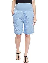 Oxolloxo Sky Blue Maternity Shorts