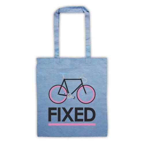 Fixed Gear-Borsa per bicicletta, in stile retrò Azzurro