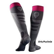 Récup UP' socks Thuasne Sport -Grey/pink - Size M