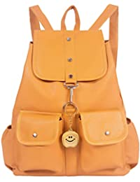 Beets Collection Studded Mini Shoulder Backpack for Women & Girls Bag (Yellow)