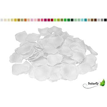100 Stück Rosenblüten ( weiß 029 ) // Rosenblätter Blütenblätter ...