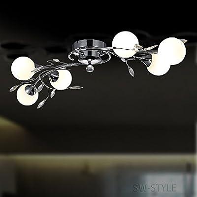 Design Deckenleuchte Deckenlampe 004-6C G9 LED, Sparlampen oder Halogen einsetzbar von SW-Style bei Lampenhans.de