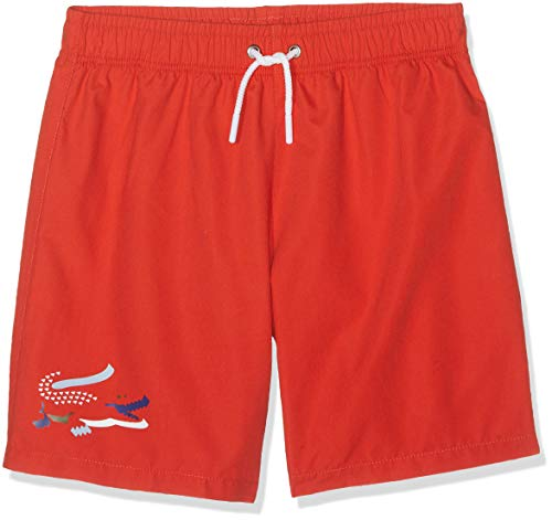 e97fab8fc2 Lacoste Boy's Mj3303 Swim Trunks, Red (Salvia Adx), 12 Years (Manufacturer