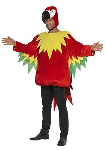 Smiffys, Herren Papagei Kostüm, Tunika und Kapuze, Größe: M, (Papagei Kostüm Ideen)