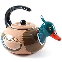 Supreme Housewares Stainless Steel Mallard Duck Whistling Tea Kettle