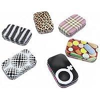 RMB® 6er Set kleine Pillendose aus Metall in verschiedenen Designs zum klappen preisvergleich bei billige-tabletten.eu