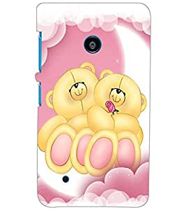 NOKIA LUMIA 530 DUAL TEDDY BEAR Back Cover by PRINTSWAG