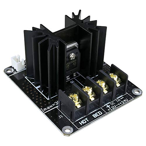 Transistor Mosfet (Mos) de 3D FREUNDE, para aliviar la placa base y asegurar el funcionamiento de la cama caliente o extrusores y la Ramps (para impresoras 3D Anet A8/A6/A2, MakerBot MK8, RepRap, Mendel, Prusa i3, E3D V6), V2, 1