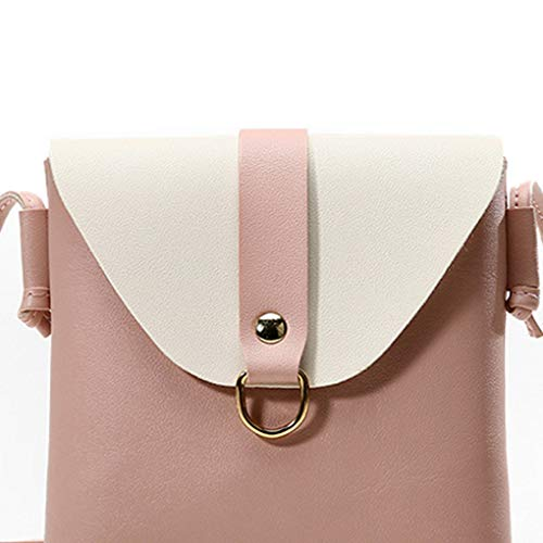 Jinzuke Frauen Umhängetasche Schulter-Minitasche Phone Wallet Lotions Handtasche Mädchen PU-Leder verstellbaren Riemen Messenger Bag -