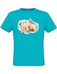 Ethno Designs Polar Bear - Ours polaires T-shirt pour les femmes et les hommes - Motif d'animal Shirt Ethno Designs animaux sauvages