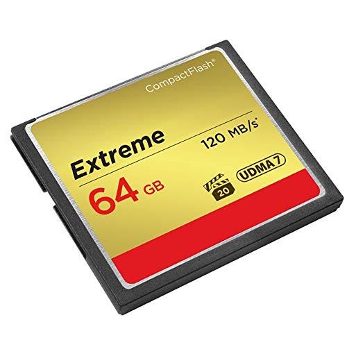 Taurusb Compactflash-Karten, Speicherkarte Extreme Compactflash 32GB 64GB 128GB CF-Karte VPG-20 120MB / S 4K Und Full-HD-Video Für Canon D300 7D 5DSR Karte,64gb