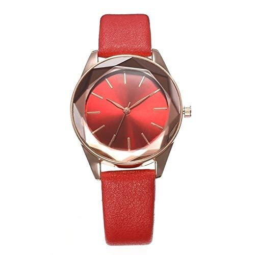 CCWL Damenuhr Luxusmarke Dame Quarzuhr Sport Leder Uhr Mode Coole Uhr Uhr Frauenrot