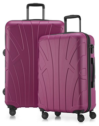 suitline Set de bagage rose magenta Set