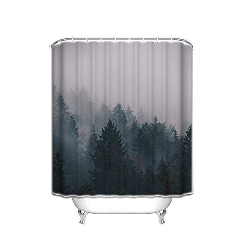 l Kiefer Bäume Forest Schimmelresistent Wasserdicht Badezimmer Stoff Duschvorhang Bad Vorhang 48x72 Multi ()