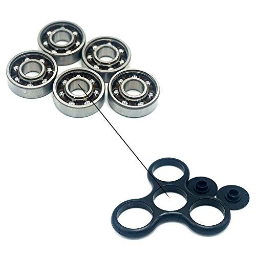 Luckcrazy, cuscinetti a sfera in acciaio 608 per giocattolo Fidget Spinner a tre teste (confezione da 5 pezzi)