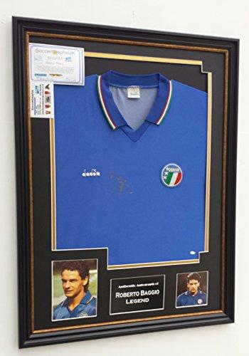 RARE-Original-1990-Roberto-Baggio-Signed-Italy-Shirt