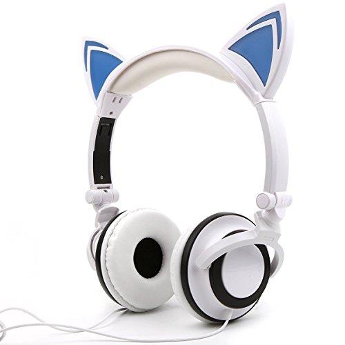 HangRui Stereo-Kophörer mit Kabel, für Kinder und Erwachsene, über Ohr, klappbar, verstellbar, für CD-, DVD-Player, Kindle Fire HD, Tablets, iPad, iPod, MP3-Player, MP4-Player, - Cute Cd-player
