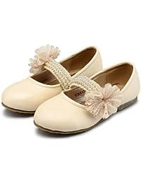 Wuyulunbi@ Chica En Chica Zapatos Cómodos Apartamentos Flor Primavera Otoño Fiesta De Boda Y Flor Chica Reconfortante Tarde,Beige,Us9.5 / Ue26 / Uk8.5 Toddle