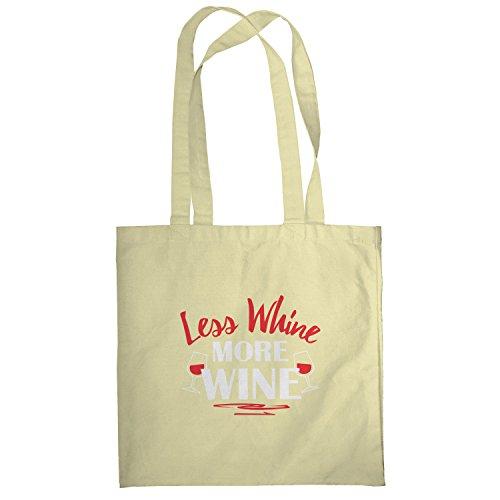 Texlab–Less Whine More Wine–sacchetto di stoffa Naturale
