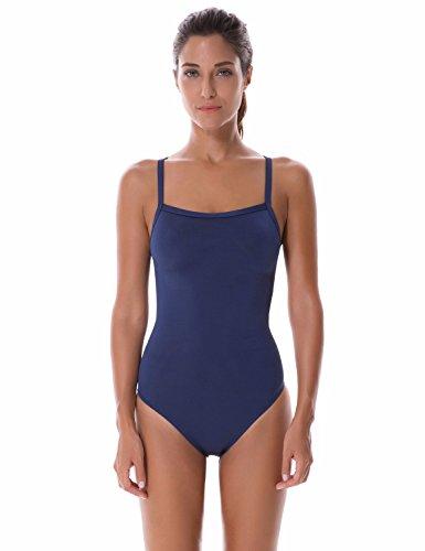 SYROKAN Damen Einteiler Sports Badeanzug - Endurance Bademode Schwimmanzug Marine 30 inch (Endurance Bademode)