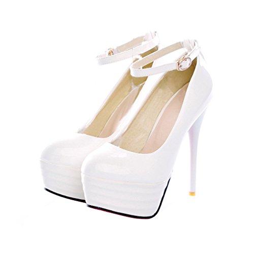 ENMAYER donne sexy show della piattaforma pompe tacchi alti in primavera e in autunno scarpe eleganti Bianca