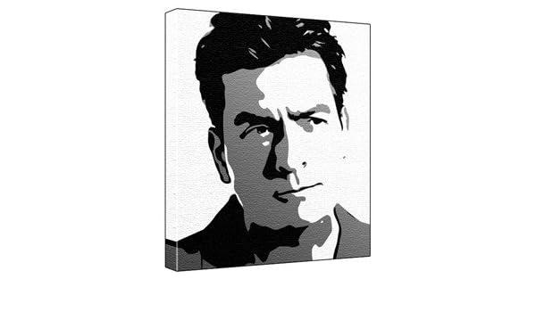 Charlie Sheen Pop Art Painting 100 Original Painting Not A Print