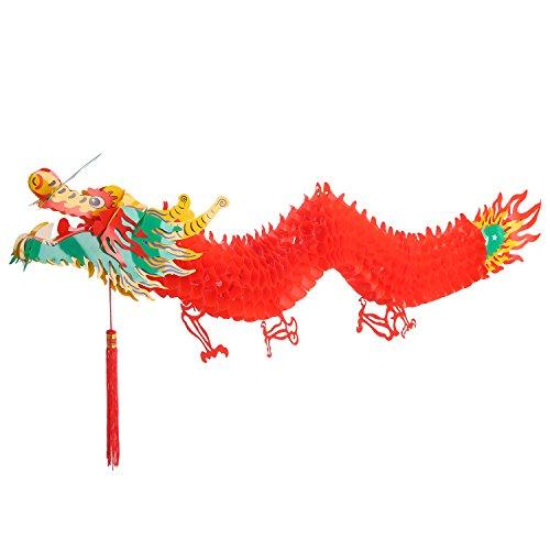 (Drache Girlanden Hängende Dekoration 3D Chinesisches Neues Jahr, 4,92 Fuß)