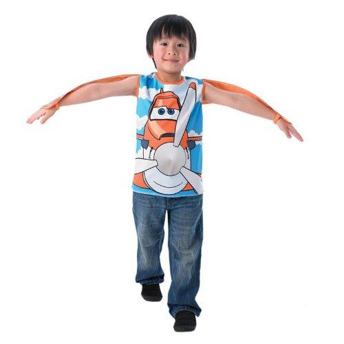 Disney Planes Kinder Kostüm Dusty Wendeshirt mit Tragfächen Gr.3-5J.
