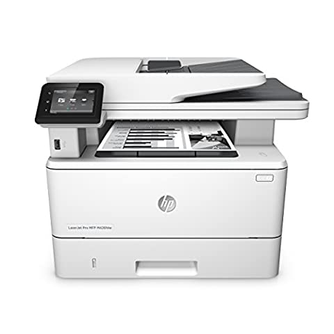 HP LaserJet Pro M426fdw Laserdrucker Multifunktionsgerät (Drucker, Scanner, Kopierer, Fax, WLAN, LAN, Duplex, HP ePrint, Airprint, NFC, USB, 4800 x 600 dpi) weiß