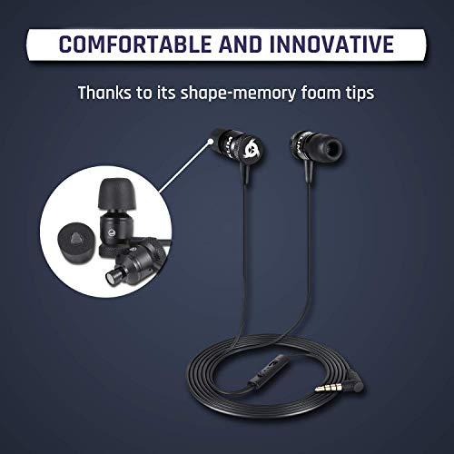KLIM Fusion Audio Kopfhörer – Langlebig + 5 Jahre Garantie – Innovativ: In-Ear-Kopfhörer mit Memory Foam 2019 Version Schwarz - 4