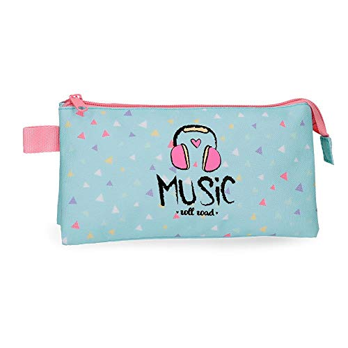 Estuche tres compartimentos Roll Road Music