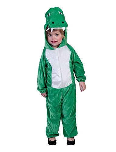 r Jungen Mädchen Kostüm Plüsch Krokodil Crocodile Alligator Fell Einteiler Onesie Overall Jumpsuit, perfekt für Karneval, Fasching und Fastnacht, 98, Grün ()