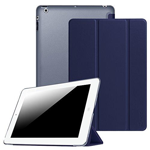Fintie iPad 2 / 3 / 4 Hülle - Ultradünne Superleicht Schutzhülle mit transparenter Rückseite Abdeckung Cover mit Auto Schlaf / Wach Funktion für Apple iPad 2 / iPad 3 / iPad 4 Retina, Marineblau
