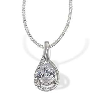 Goldmaid Damen-Halskette PremiumShine Tropfen 925 Sterlingsilber 15 Zirkonia 45 cm Ps C5298S Kettenanhänger Schmuck
