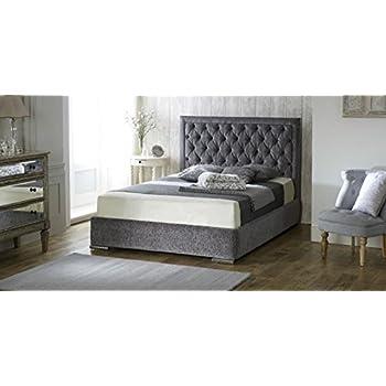 brando ohrensessel chesterfield king size bett 5 ft 150 cm grau samt stoff k che. Black Bedroom Furniture Sets. Home Design Ideas