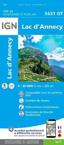 Lac d'Annecy 1:25 000
