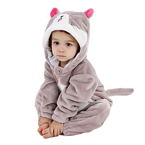 Fancyland Kinder Jumpsuits Kostüm Tier Overall-Onesie Pyjama Schlafanzug-Kapuzenpullover Nachtwäsche Onesie Nachthemd