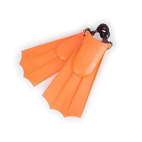 AMYMGLL Nageur adulte nageoire plongée échafaudage équipement de plongée équipement de plongée en apnée pied léger chaussures ailes , orange 40~44