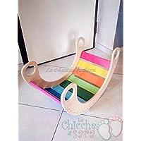 rocker rainbow tavola montessoriana waldorf balance board regalo per bambini da 6 mesi in poi gioco cavallo sedia a dondolo gioco in legno colore naturale EN71 per neonati atossico