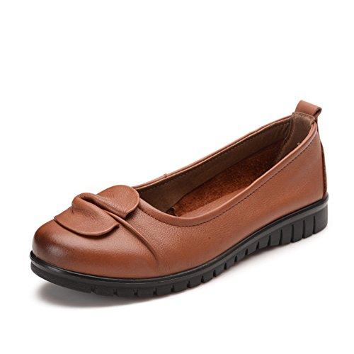 Les chaussures de travail de fond souple/ sur chaussures printemps/Ethnique souliers pour dames âgées et vieilles B