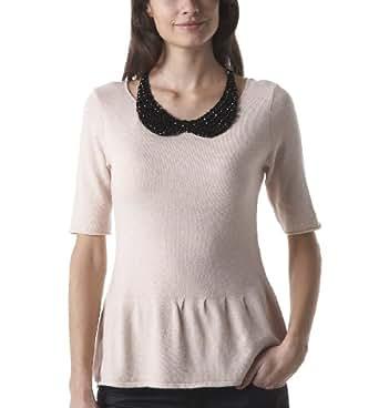 Promod Damen-Pullover Leichtes Hellrosa 36/38