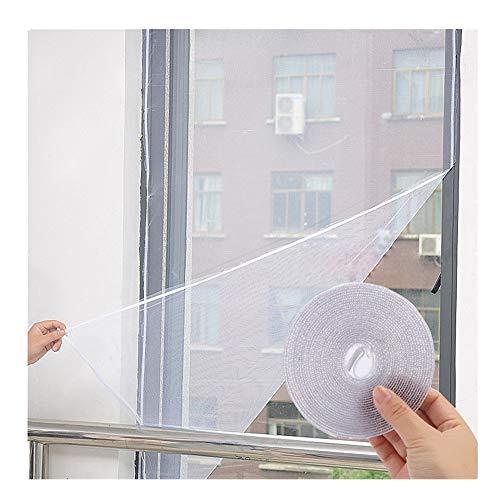 Finebuying 3 Stücke Innen Insektenschutz Moskitonetz Tür Fenster Insektenschutz Insekten Fliegen Moskito Fensternetz Mesh-Bildschirm Klebeband für windows 130 cm X 150 cm (Schwarz)