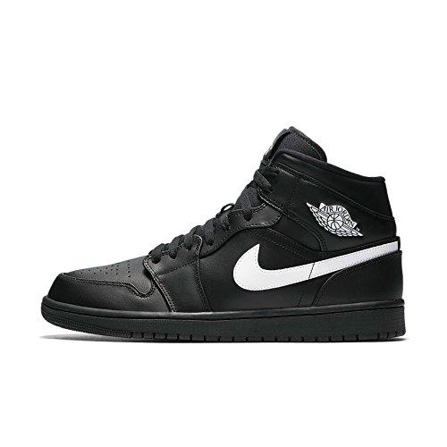 Nike Herren Air Jordan 1 Mid Schwarz Leder/Synthetik/Textil Sneaker 48,5 (Air Jordan Air 14)