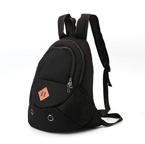 Preisvergleich Produktbild Paket Canvas Pet Backpack Out Tragetasche Hunderucksack Pet Brusttasche Brustrucksack (Farbe : SCHWARZ)