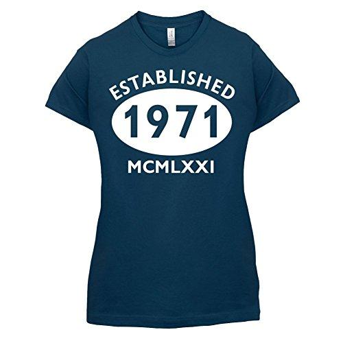Gegründet 1971 Römische Ziffern - 46 Geburtstag - Damen T-Shirt - 14 Farben Navy