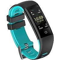 MRXUE Relojes Inteligentes Impermeable Monitor de Ritmo cardíaco para niños Mujeres Hombres Bluetooth podómetro para Android