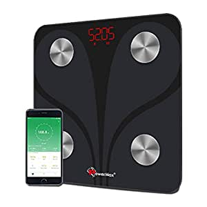 Powermax Smart Body Composition Analyzer BCA-130 Bluetooth Weight Scale – Measures Weight, BMI, BMR, Body Fat & 9 Other via Android & iOS App