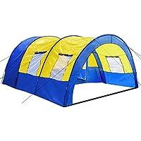 TecTake Tente tunnel de camping famille 4 - 6 personnes