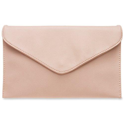 CASPAR TA310 Damen Envelope Clutch, Farbe:rosa