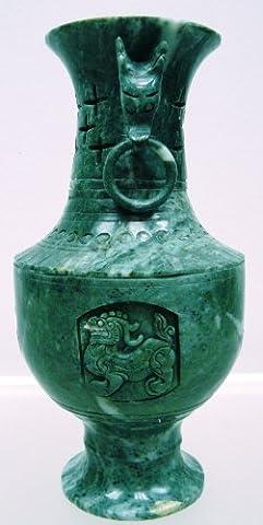 24 cm Vase A95 Kwanyin Jade en Bouddha